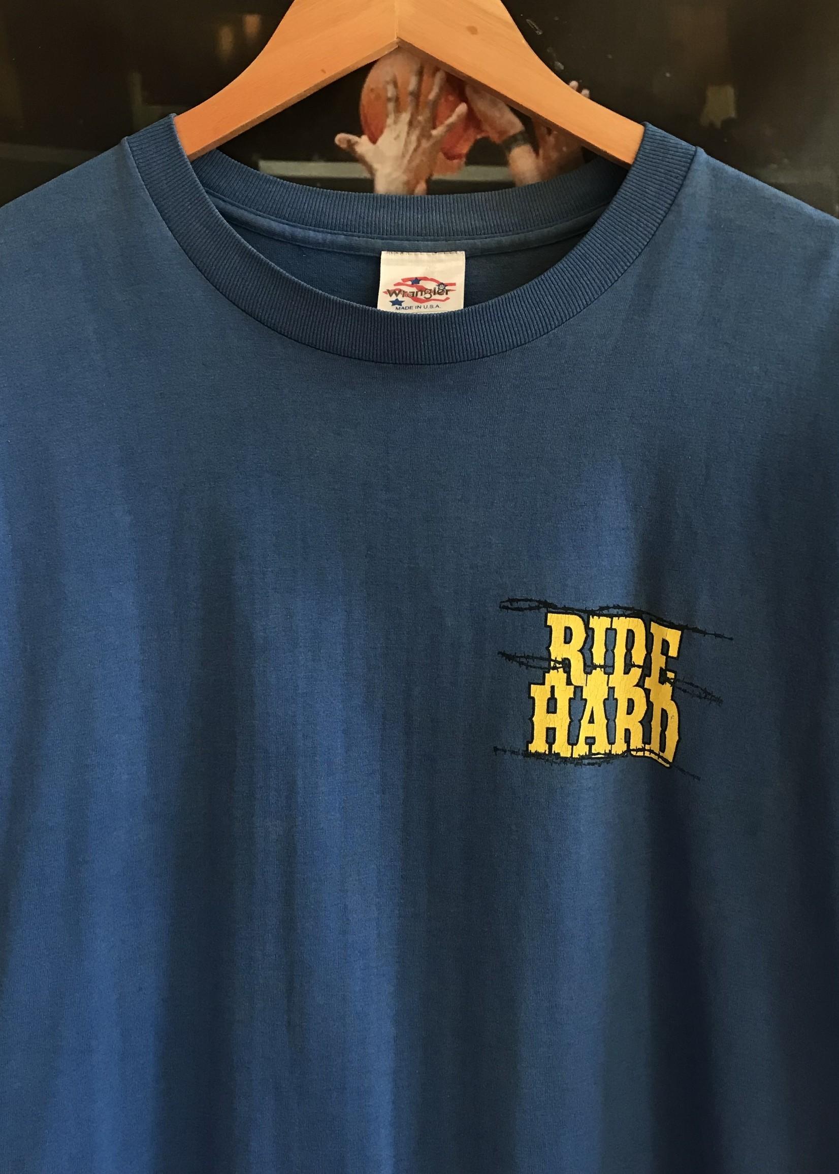 4946wrangler ride hard tee blue sz XL