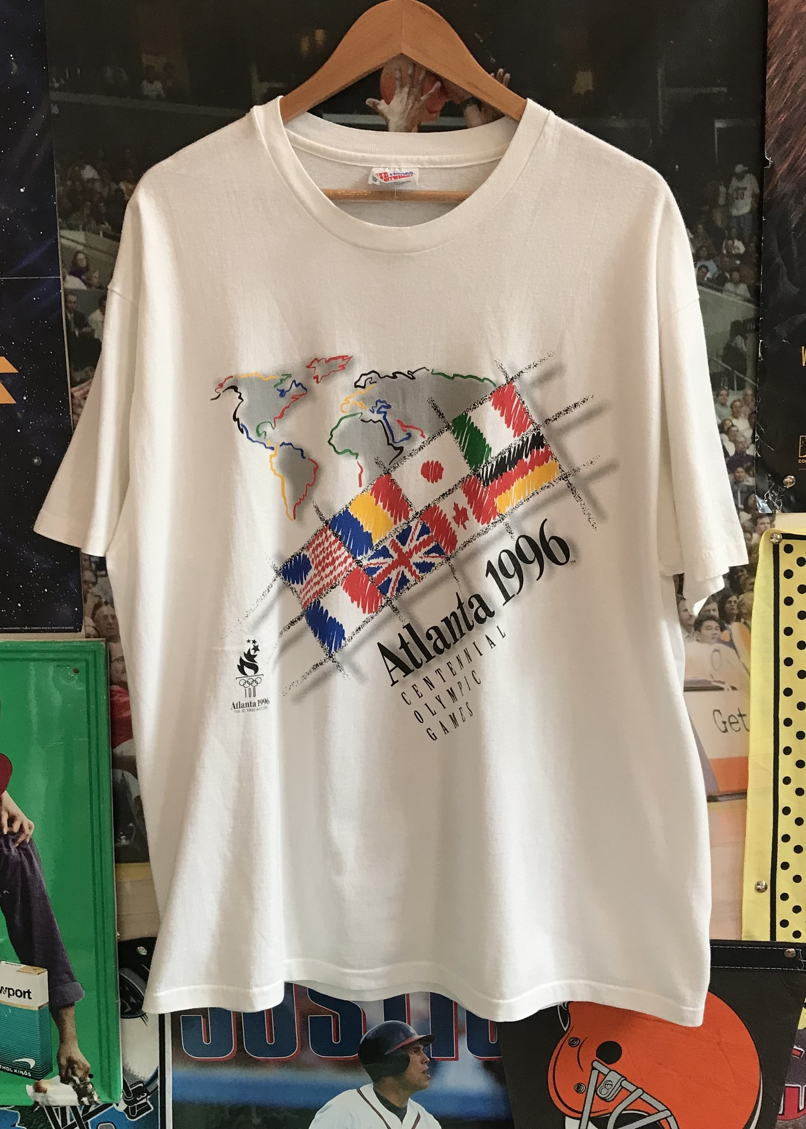 50251996 atlanta olympics tee white sz XL