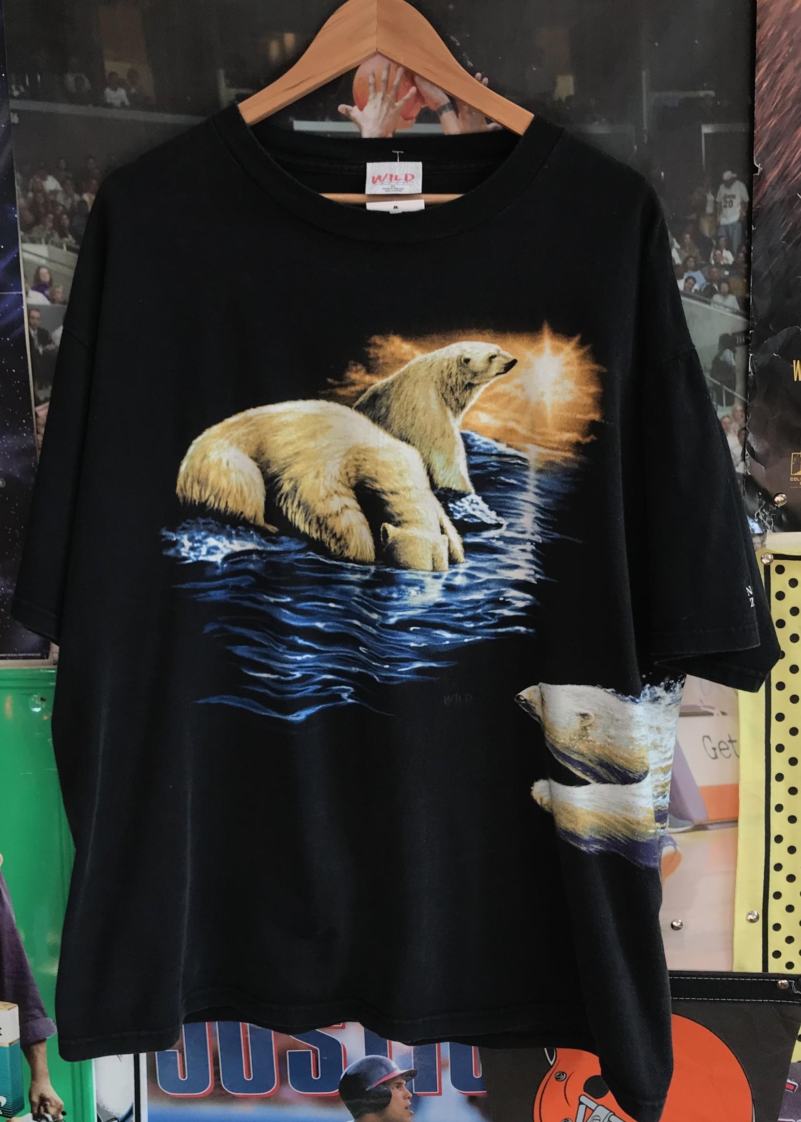 5019polar bear tee black sz XL