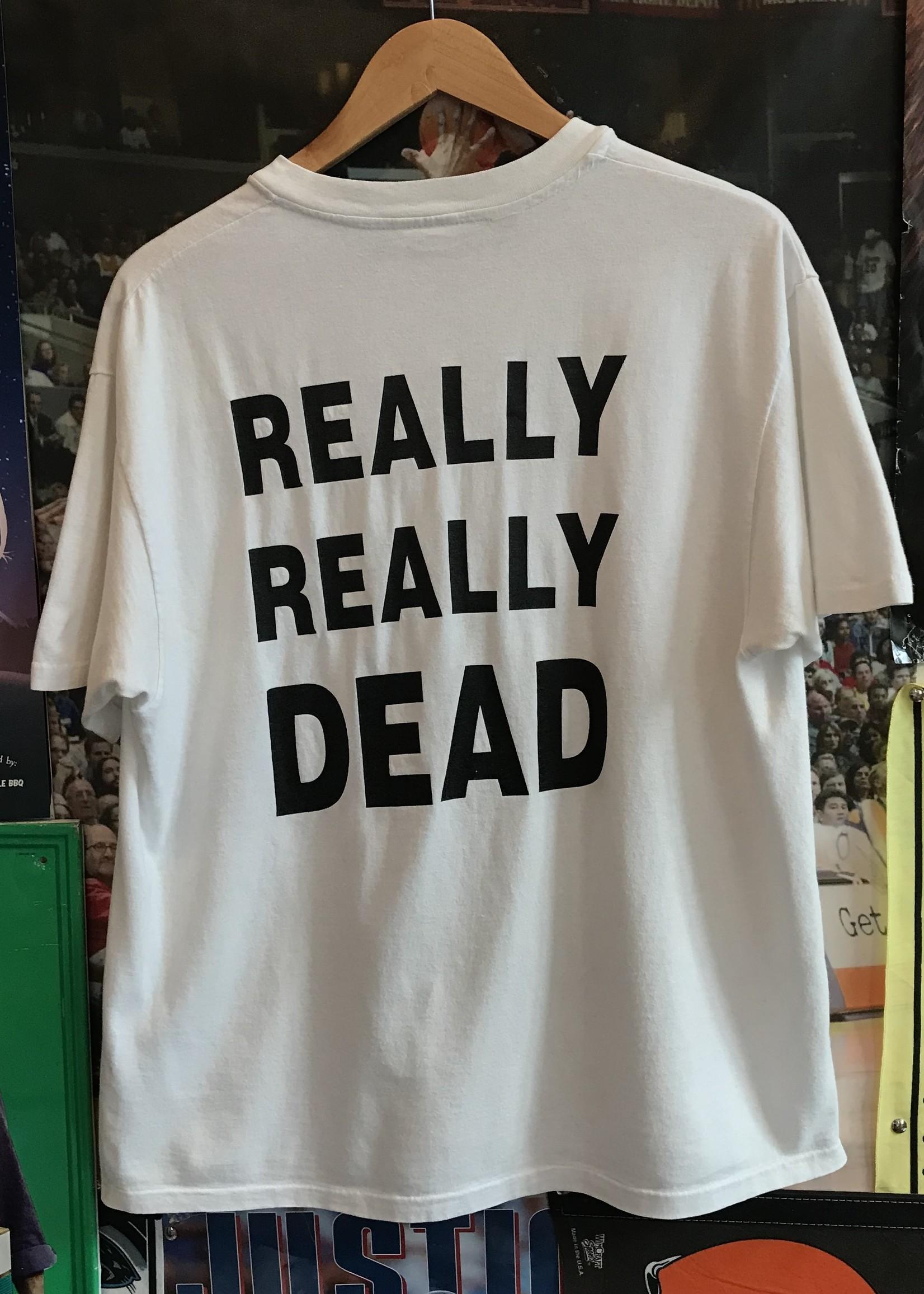 32581994 we're dead tee white sz L