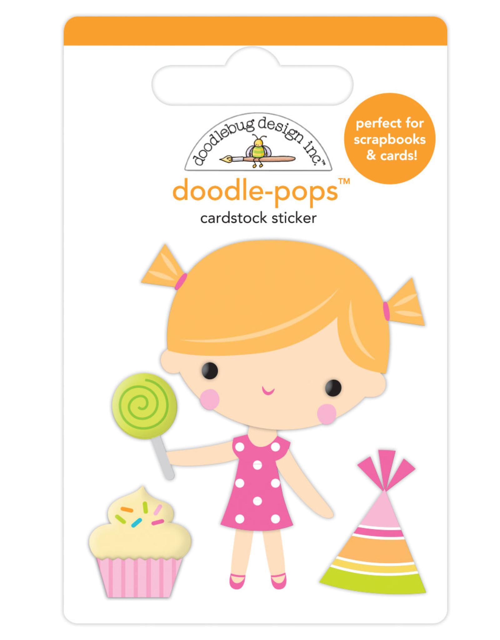 Doodlebug Design birthday girl doodle-pops