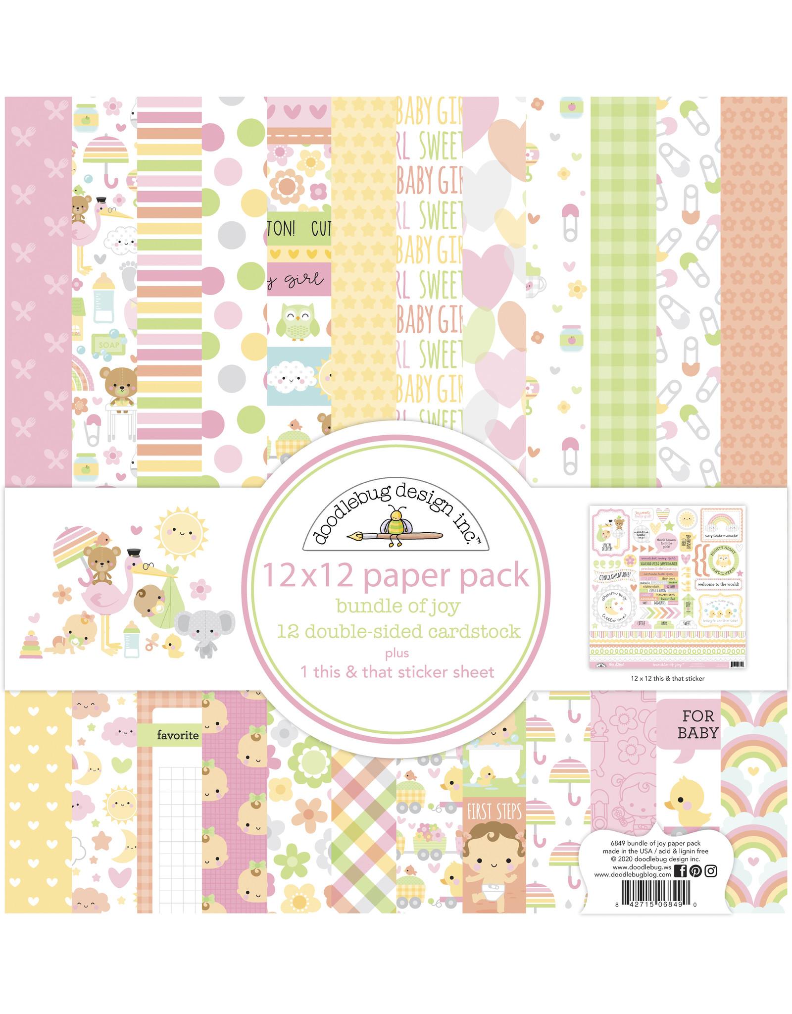 Doodlebug Design bundle of joy 12x12 paper pack
