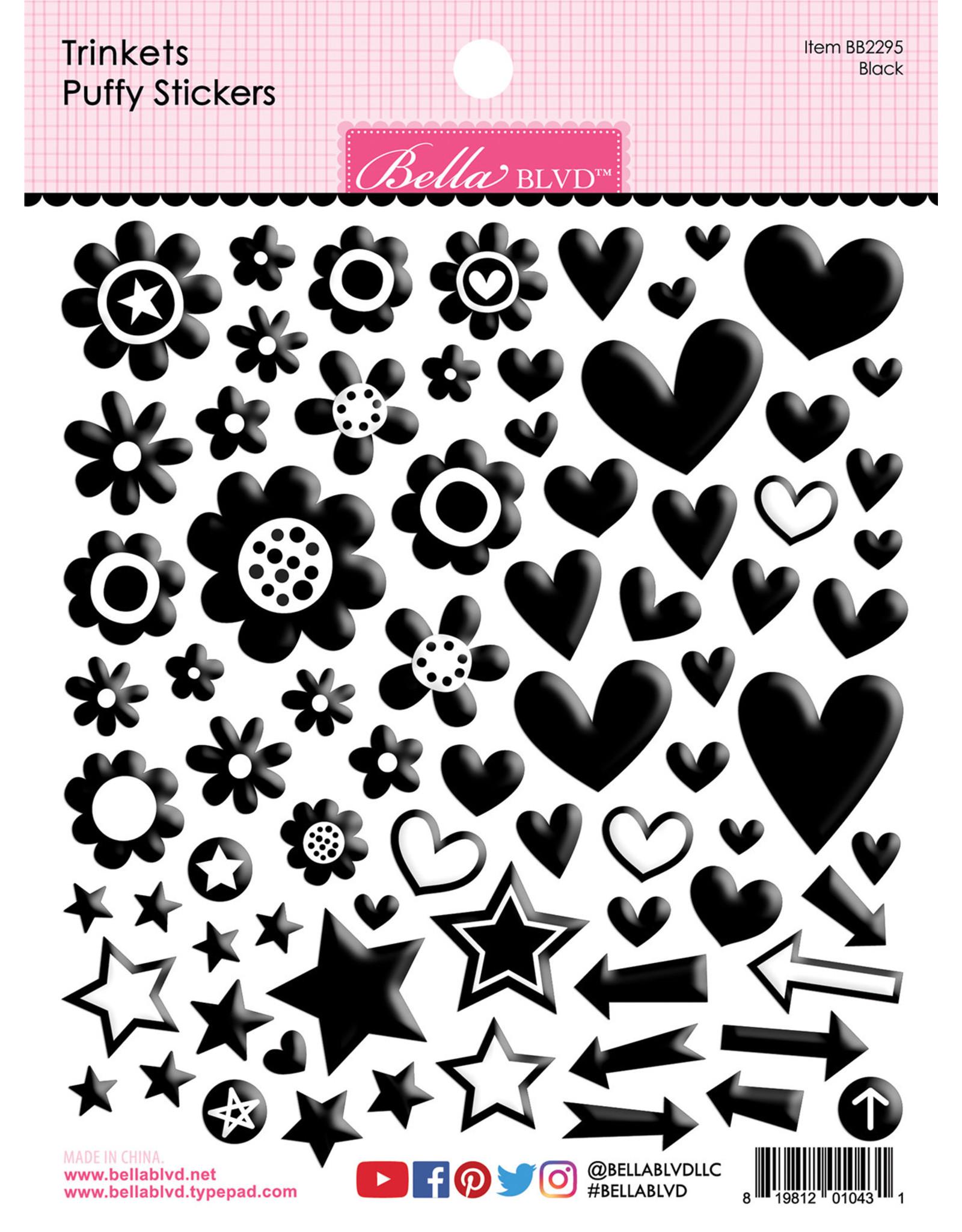 BELLA BLVD Black Trinkets Puffy Stickers