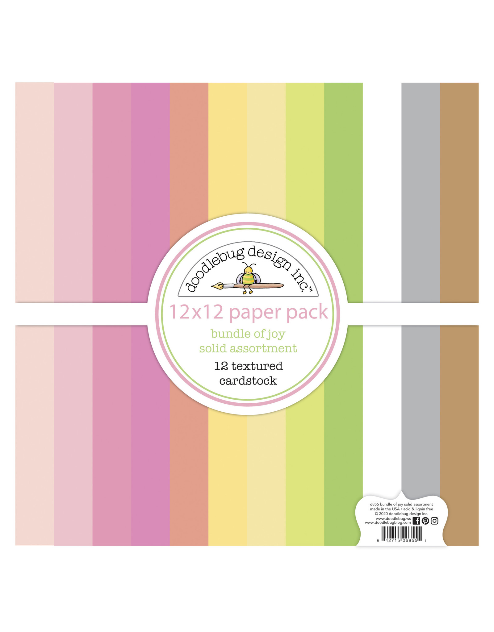 Doodlebug Design bundle of joy textured cardstock