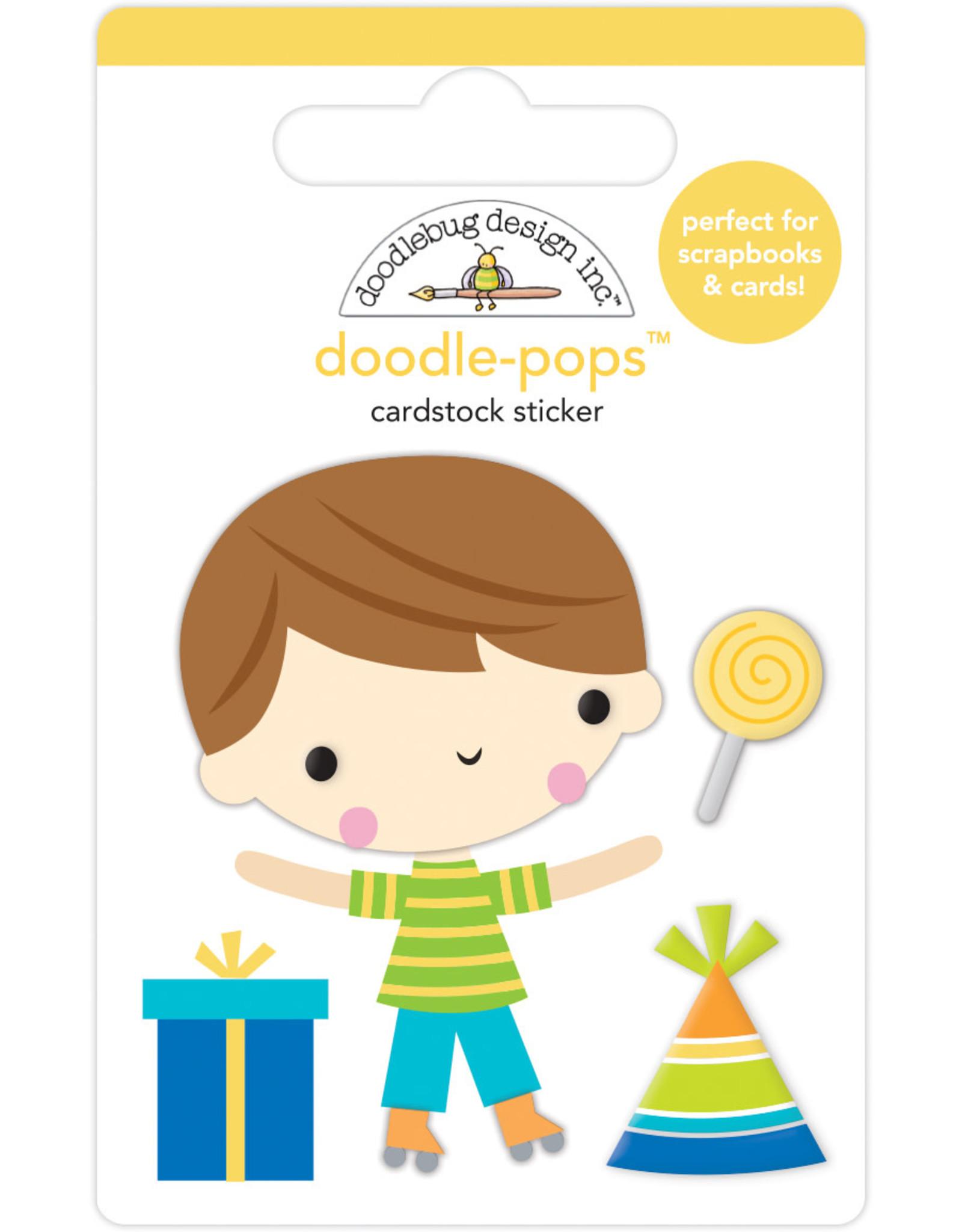 Doodlebug Design birthday boy doodle-pops