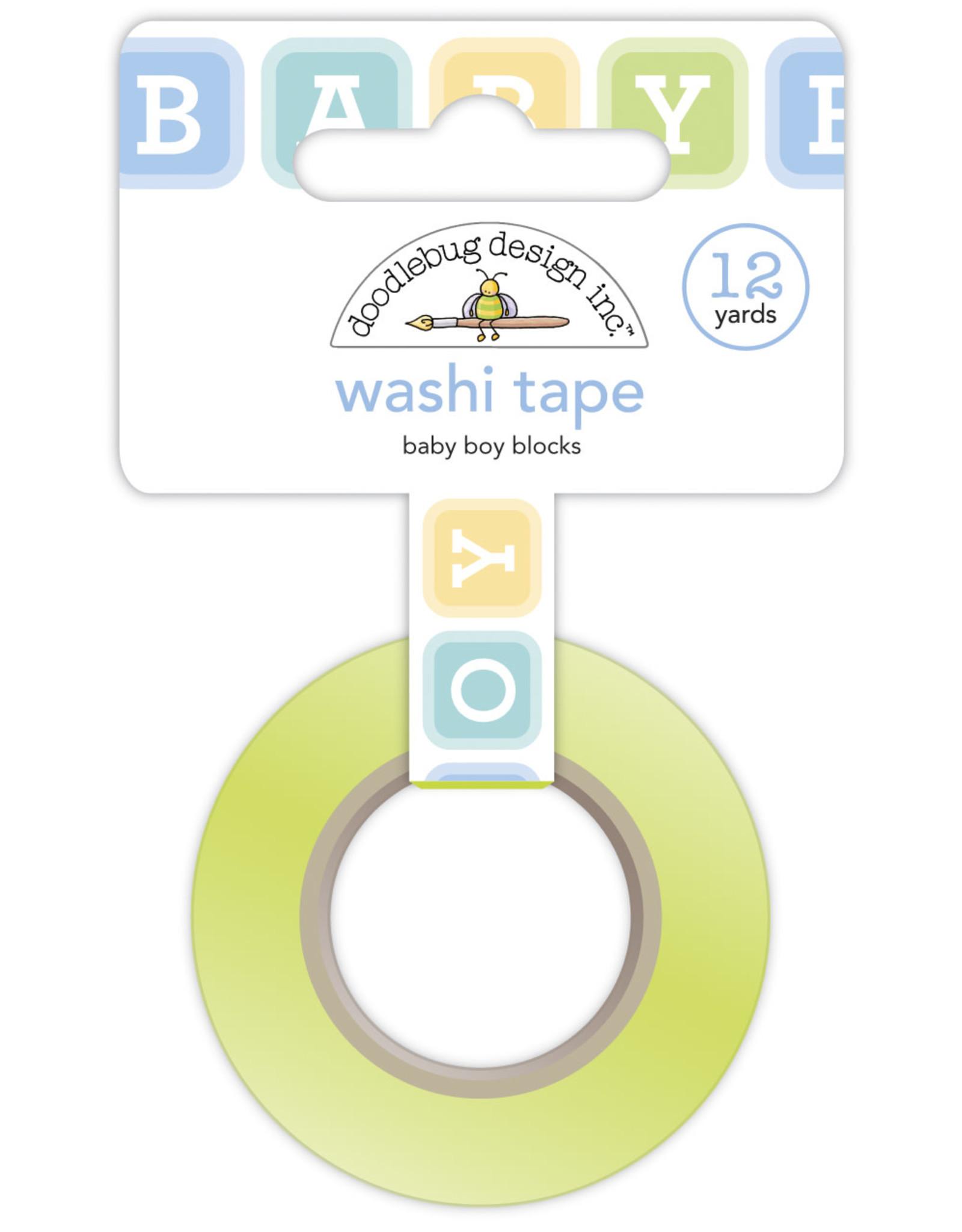 Doodlebug Design baby boy blocks washi tape