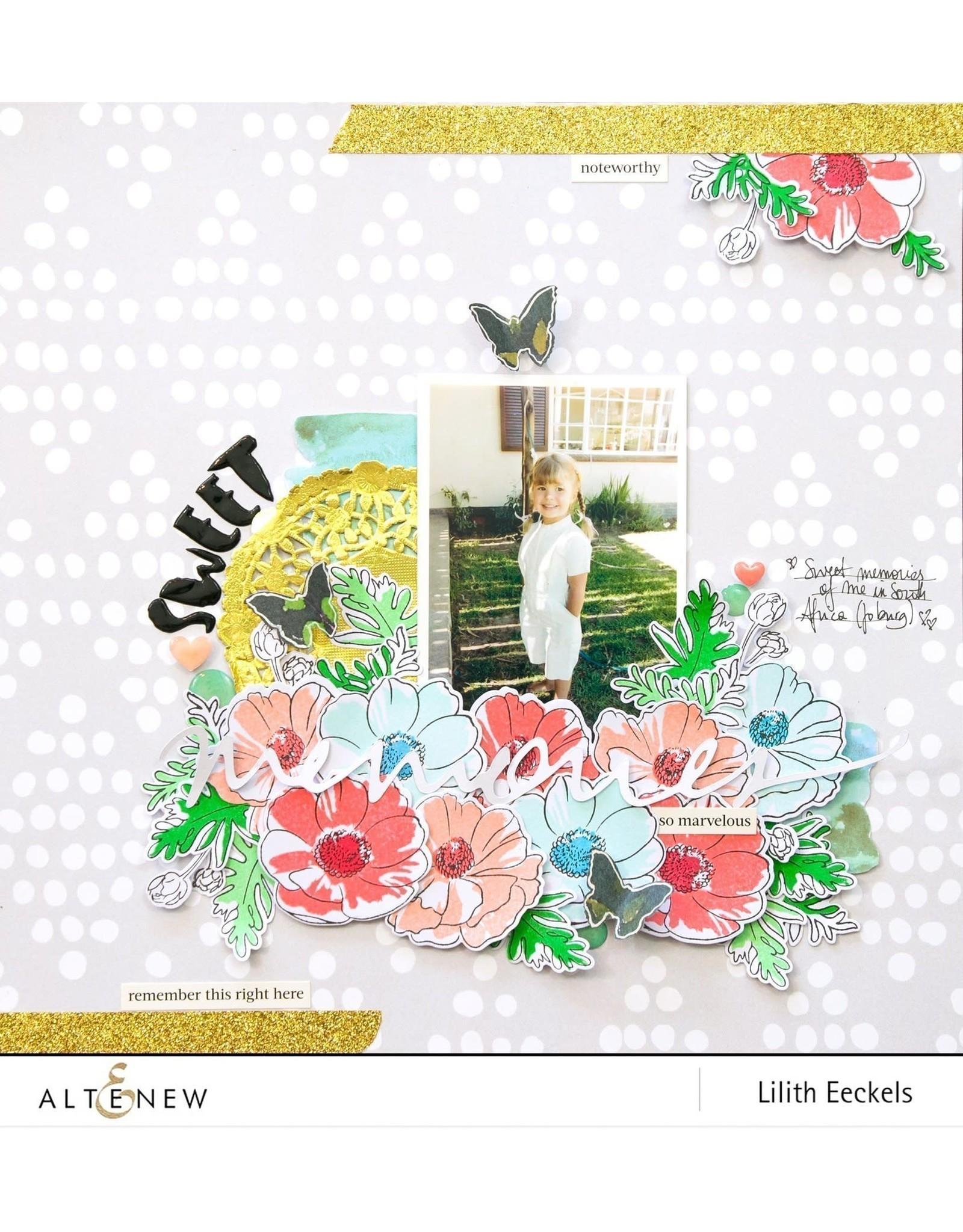 ALTENEW Build-A-Flower: Anemone Coronaria Stamp and Die Set