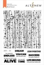 ALTENEW Birch Forest Stamp Set