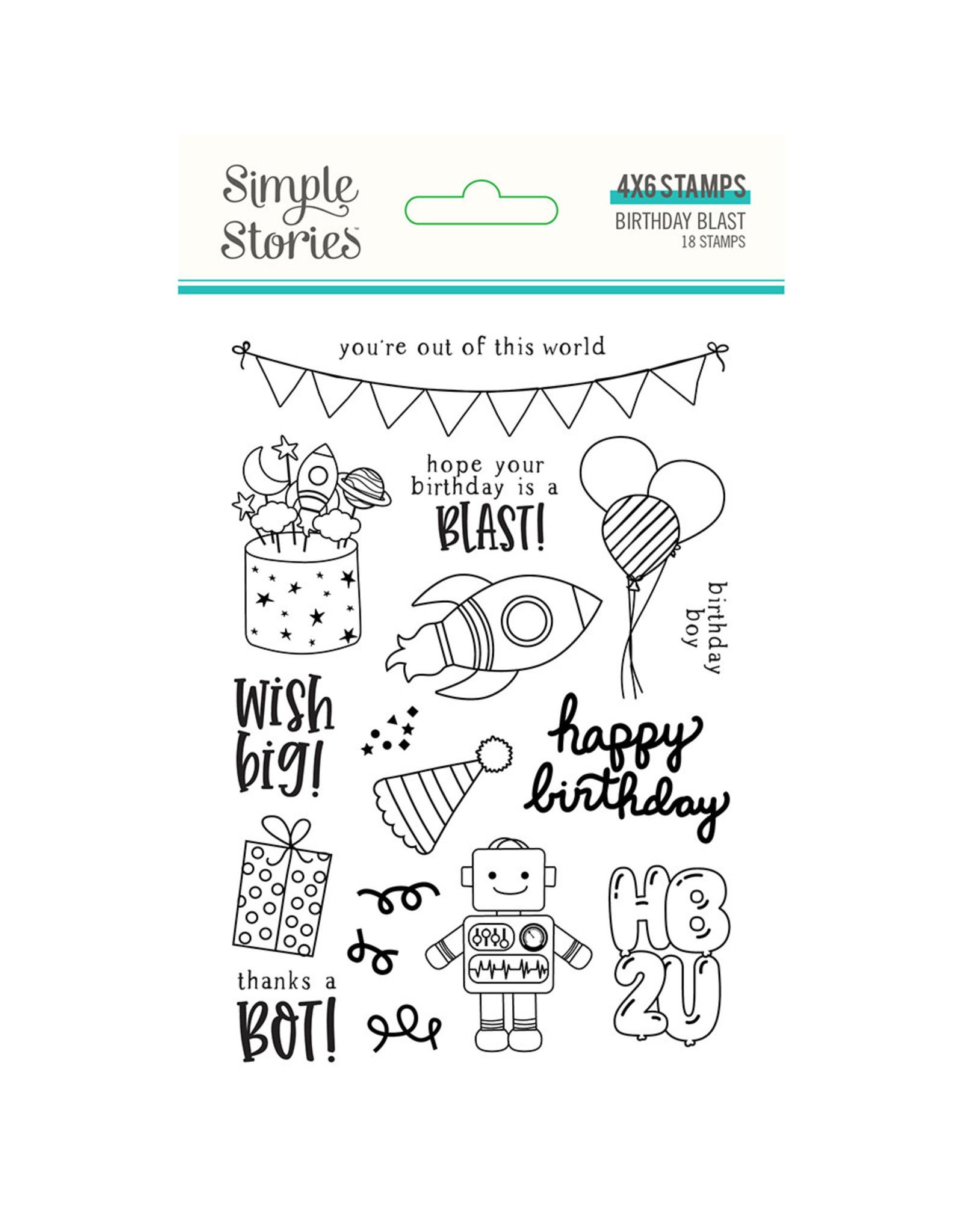 Simple Stories Birthday Blast Stamps