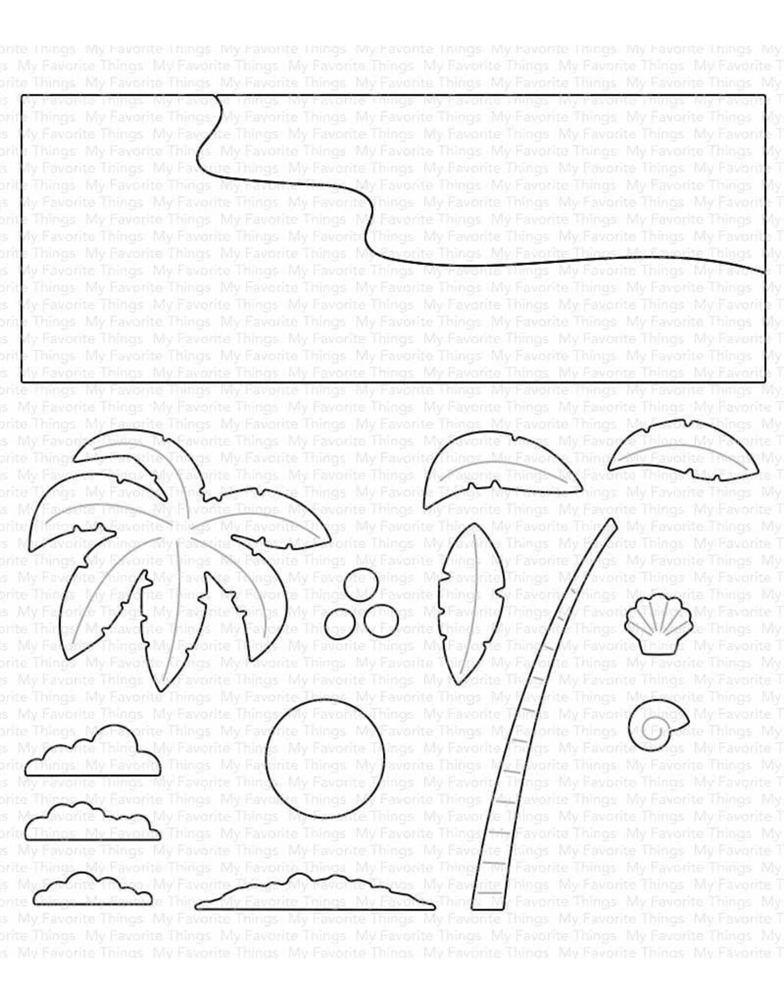 My Favorite Things Beach Scene Builder Die-namics