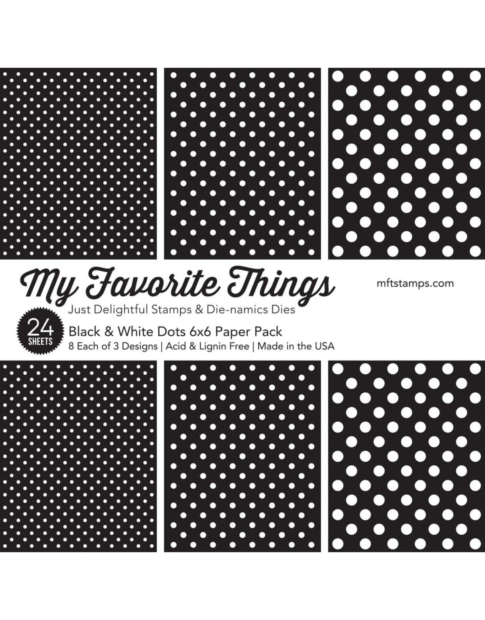 My Favorite Things Black & White Dots Paper Pad