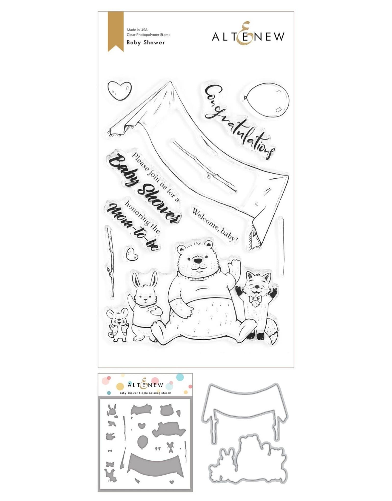 ALTENEW Baby Shower Stamp , Die Bundle and Coloring Stencil