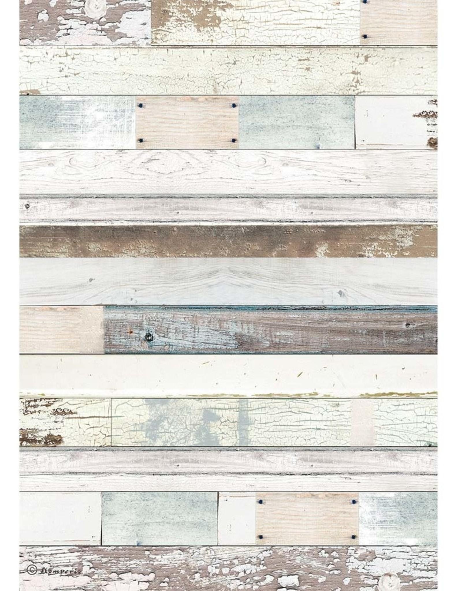 Stamperia A4 Rice Paper, Gratitud - Natural Wood