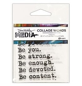 Dina Wakley Media Tissue Sheets, Collage Words