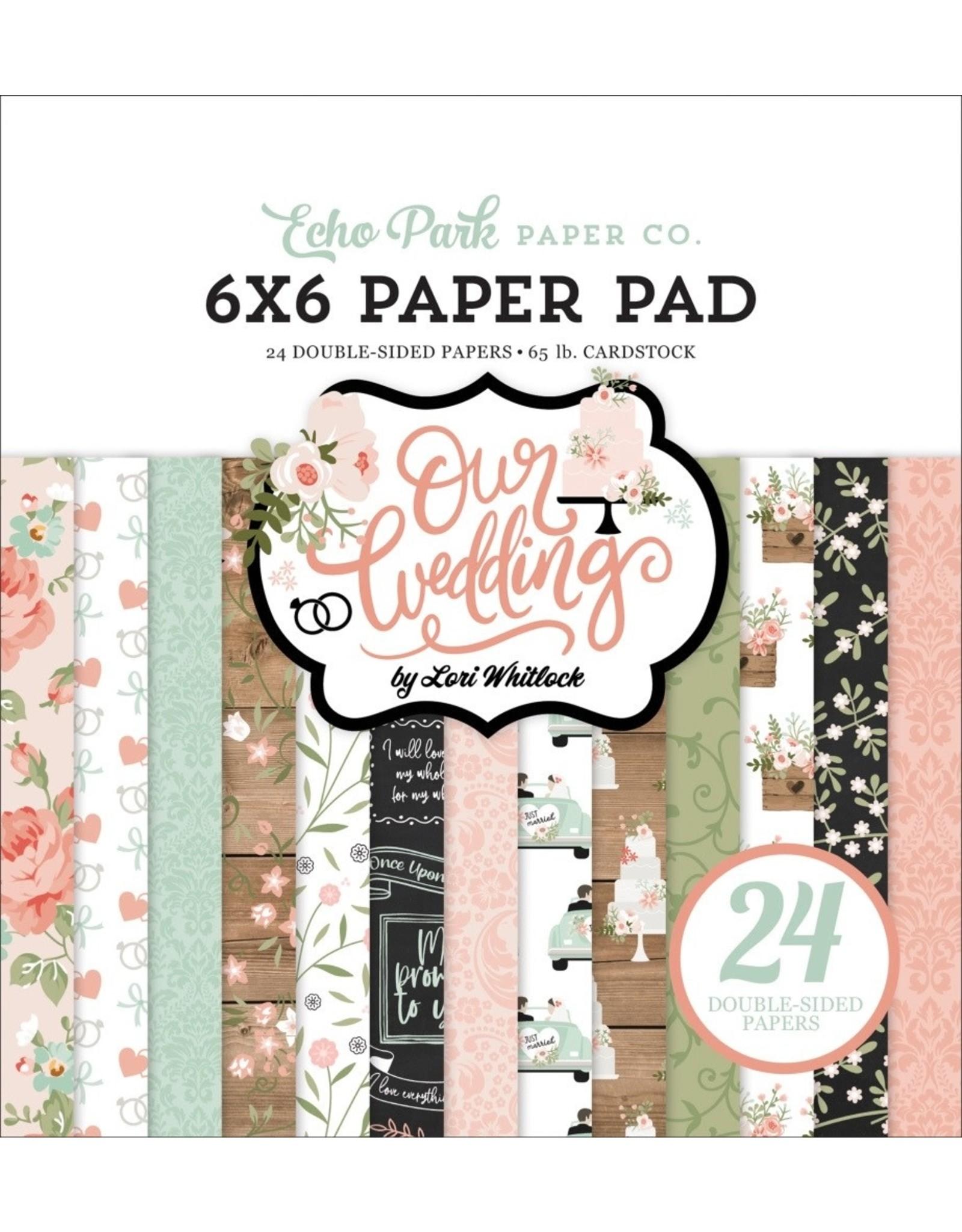 Echo Park 6X6 Paper Pad, Our Wedding