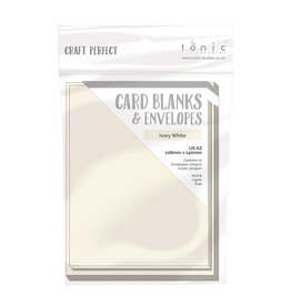 A2 Card Blanks, Ivory White