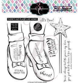 Colorado Craft Company Clear Stamp, Big & Bold - Ruby Slippers