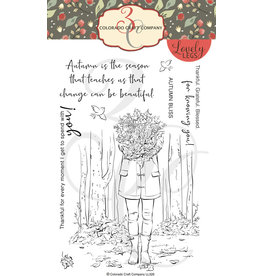 Colorado Craft Company Clear Stamp, Lovely Legs - Autumn Season Leaves