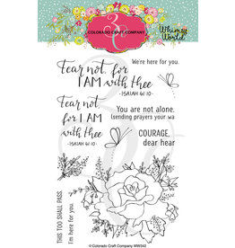 Colorado Craft Company Clear Stamp, Whimsy World - Fear Not Rose