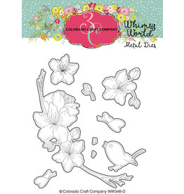 Colorado Craft Company Die, Whimsy World - Bless The Lord Blossoms
