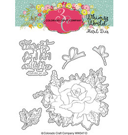 Colorado Craft Company Die, Whimsy World - Fear Not Rose