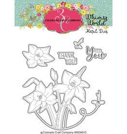 Colorado Craft Company Die, Whimsy World - Lift My Eyes Daffodils