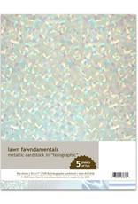 Lawn Fawn 8.5X11 Metallic Cardstock, Holographic