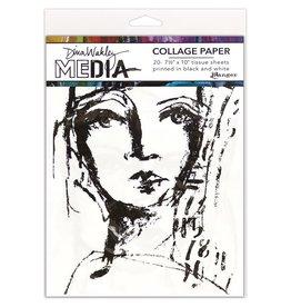 Dina Wakley Media Dina Wakley MEdia Collage Paper, Faces