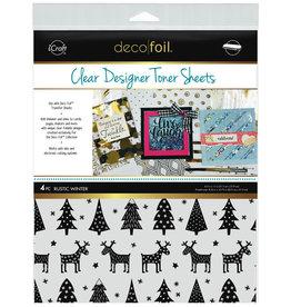 iCraft Deco Foil Clear Designer Toner Sheets, Rustic Winter