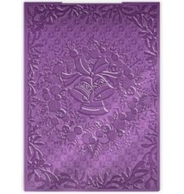 Crafter's Companion 3D Embossing Folder, Jingle Bell Wreath