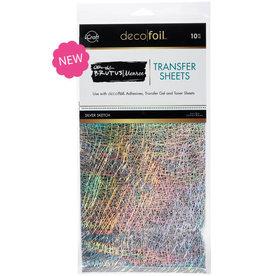 Brutus Monroe Deco Foil Transfer Sheets, Silver Sketch (6x12)