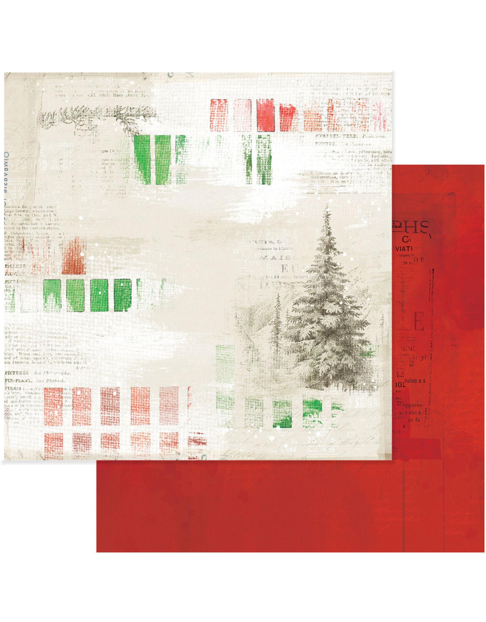 49 AND MARKET 12X12 Patterned Paper, Vintage Artistry Noel - Painted Season