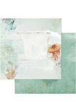 49 AND MARKET 12X12 Patterned Paper, Vintage Artistry Shore - Barrier Reef