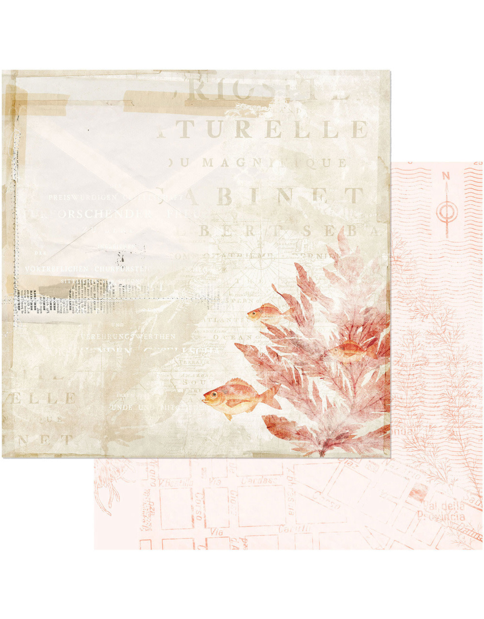 49 AND MARKET 12X12 Patterned Paper, Vintage Artistry Shore - In the Shallows