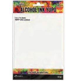 "Tim Holtz Alcohol Ink Yupo Paper, White - 5x7"""