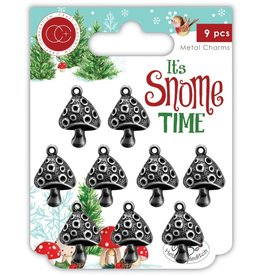 Craft Consortium Ltd Metal Charms, It's Snome Time - Toad Stools