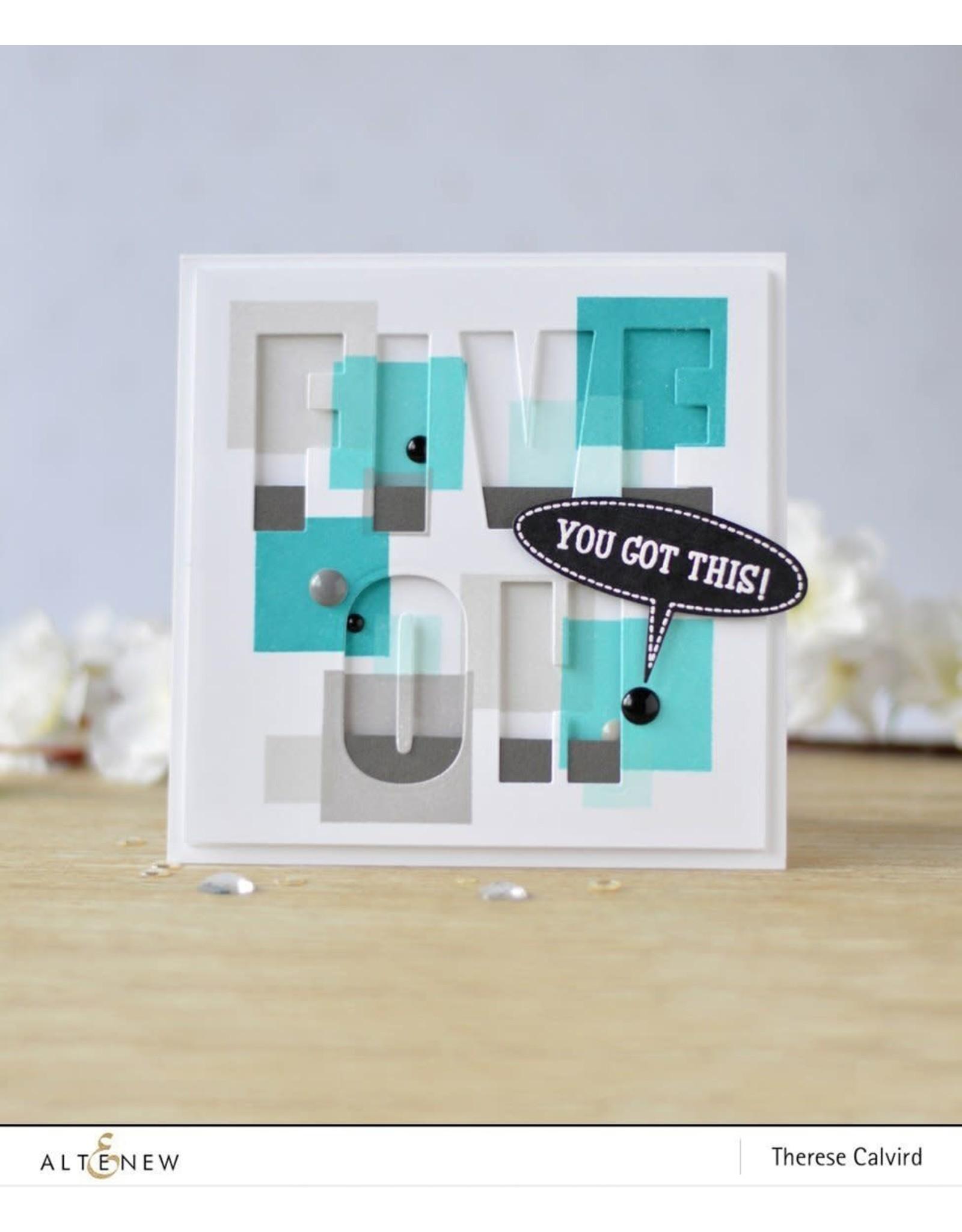 ALTENEW Building Blocks Stamp Set