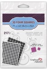 Scrapbook Adhesives 3D Foam Squares, Assorted Black