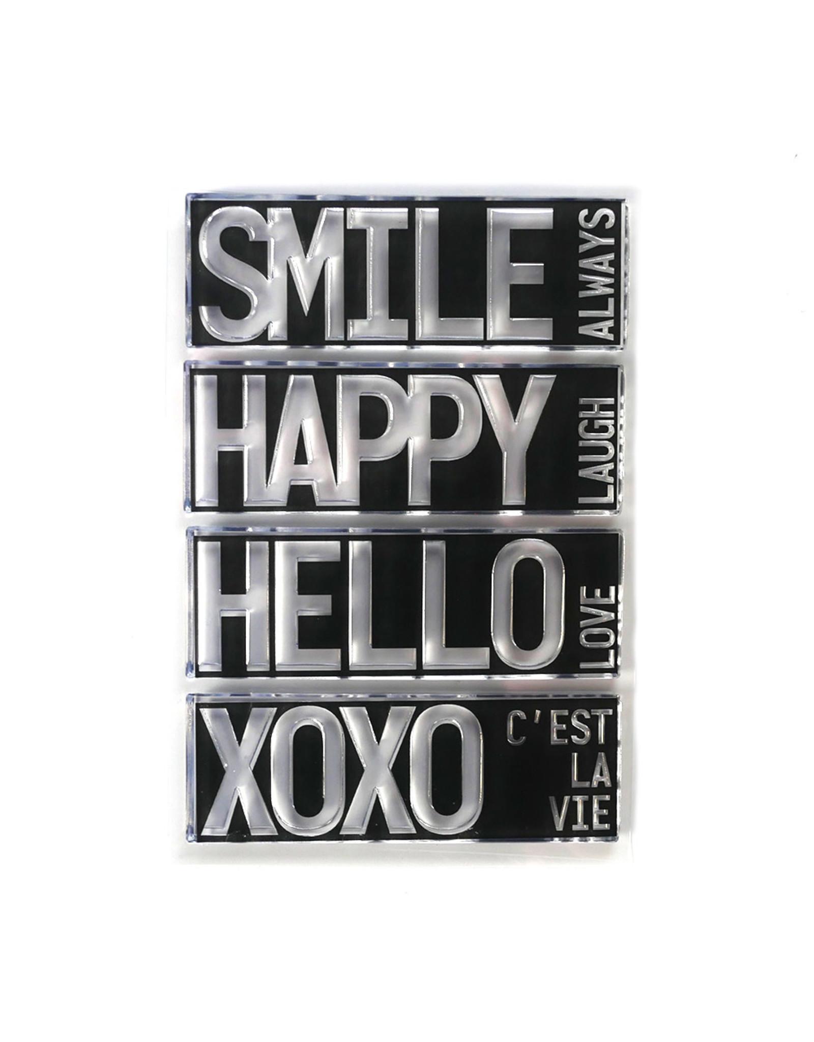 Elizabeth Craft Designs Block Words - Hello