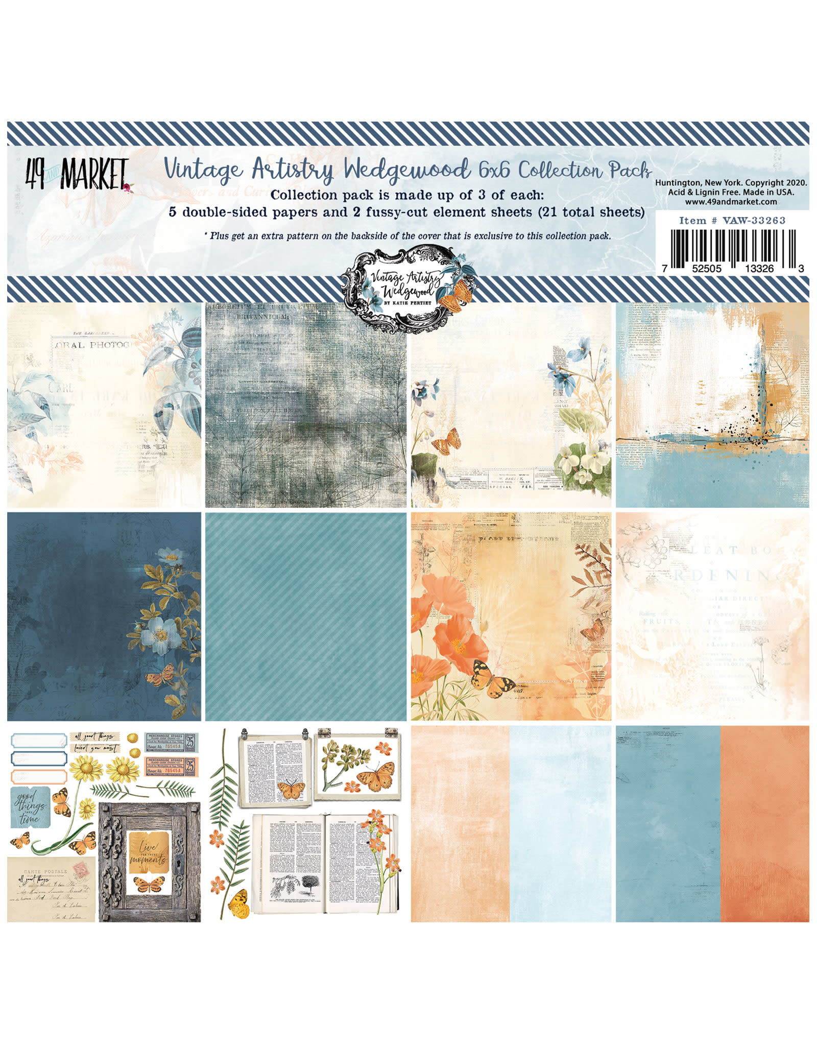 49 AND MARKET 6X6 PACK  -VA WEDGEWOOD COLL