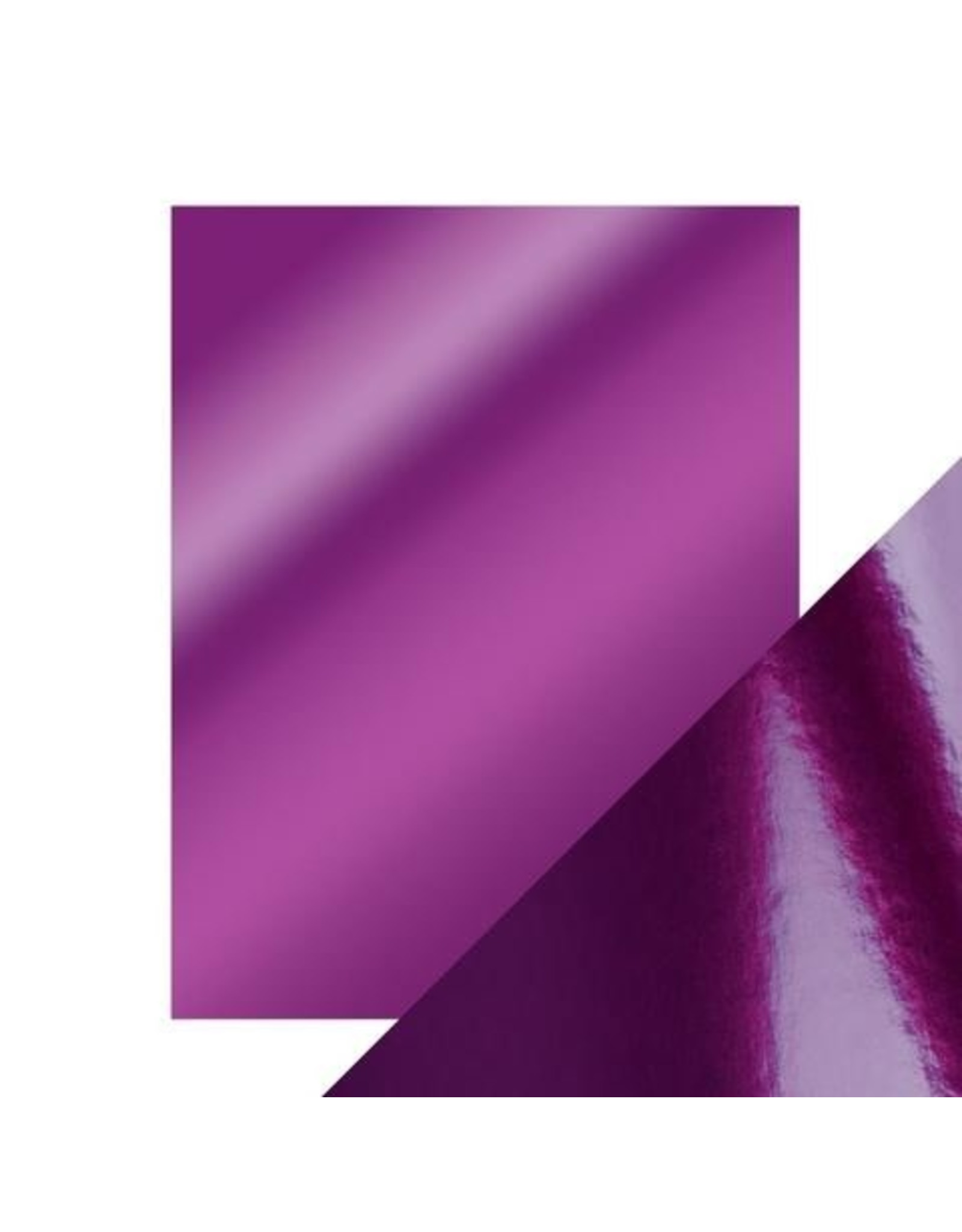 8.5X11 Mirror Cardstock, Gloss - Electric Purple (5/Pk)