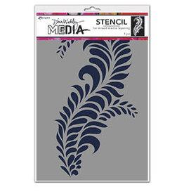 Dina Wakley Media Dina Media Stencils Giant Flourish
