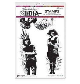 Dina Wakley Media Dina Media Stamps Collaged Girls