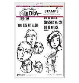 Dina Wakley Media Dina Media Stamps Better Together