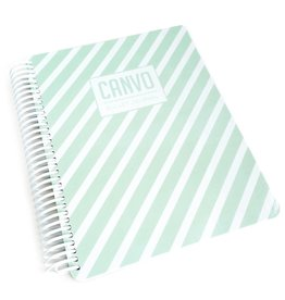 Catherine Pooler Designs Mint Stripe Canvo Journal