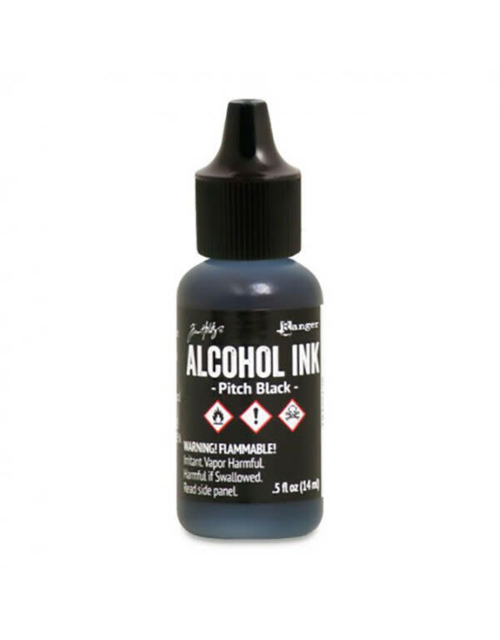 Tim Holtz Alcohol Ink 1/2 oz Pitch Black