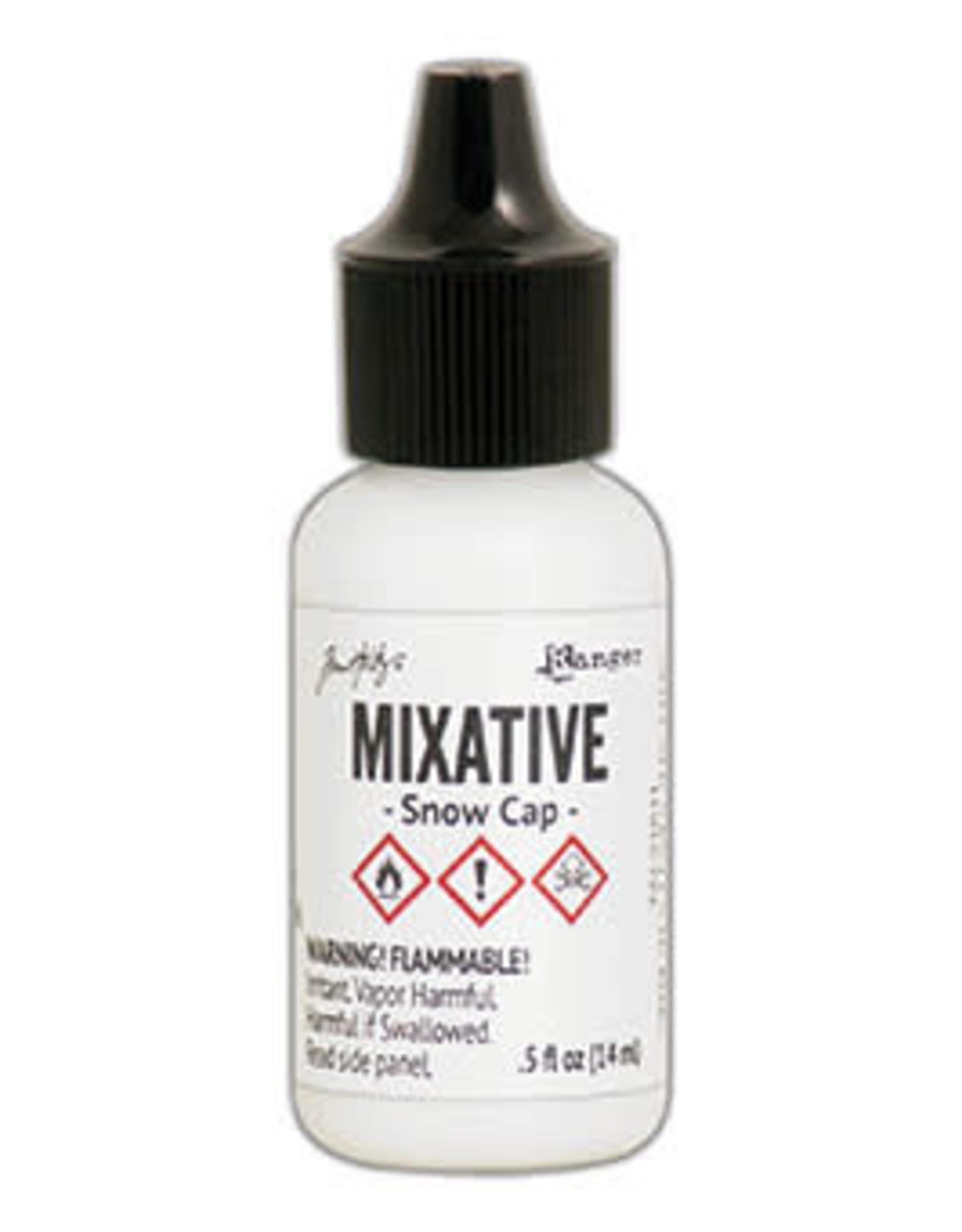 Tim Holtz Alcohol Ink Metal Mixative 1/2 oz Snow Cap