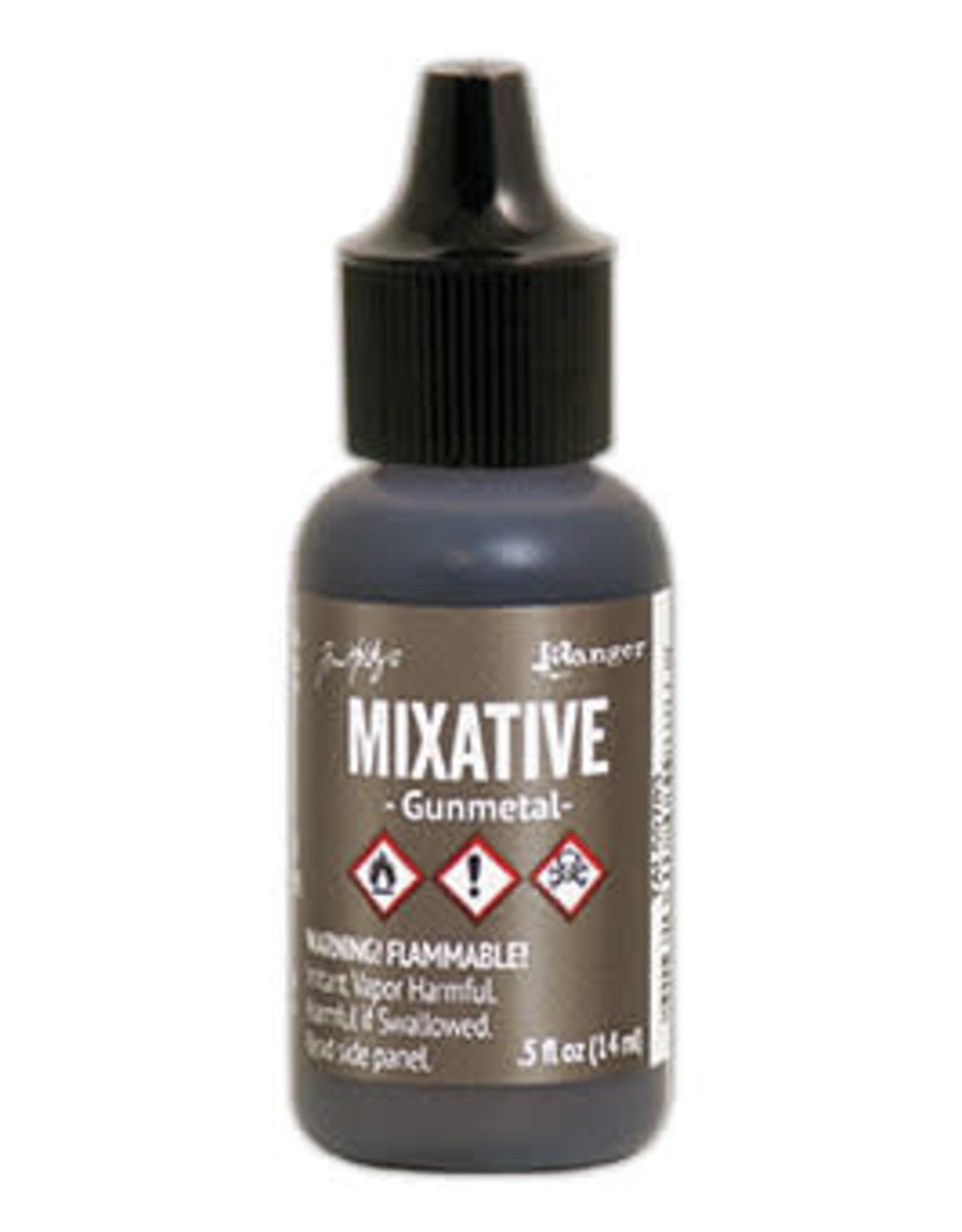 Tim Holtz Alcohol Ink Metal Mixative 1/2 oz Gunmetal