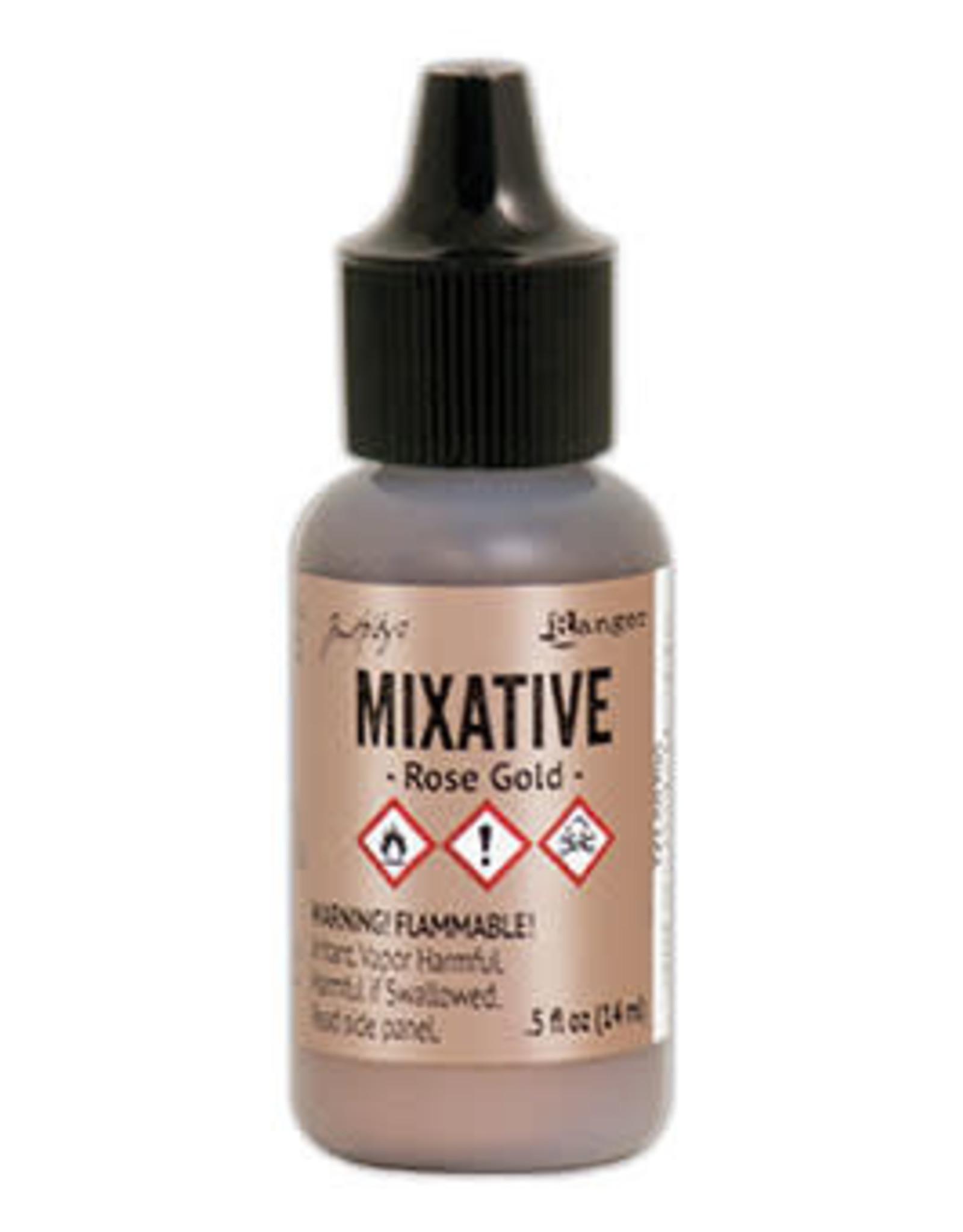 Tim Holtz Alcohol Ink Metal Mixative 1/2 oz Rose Gold