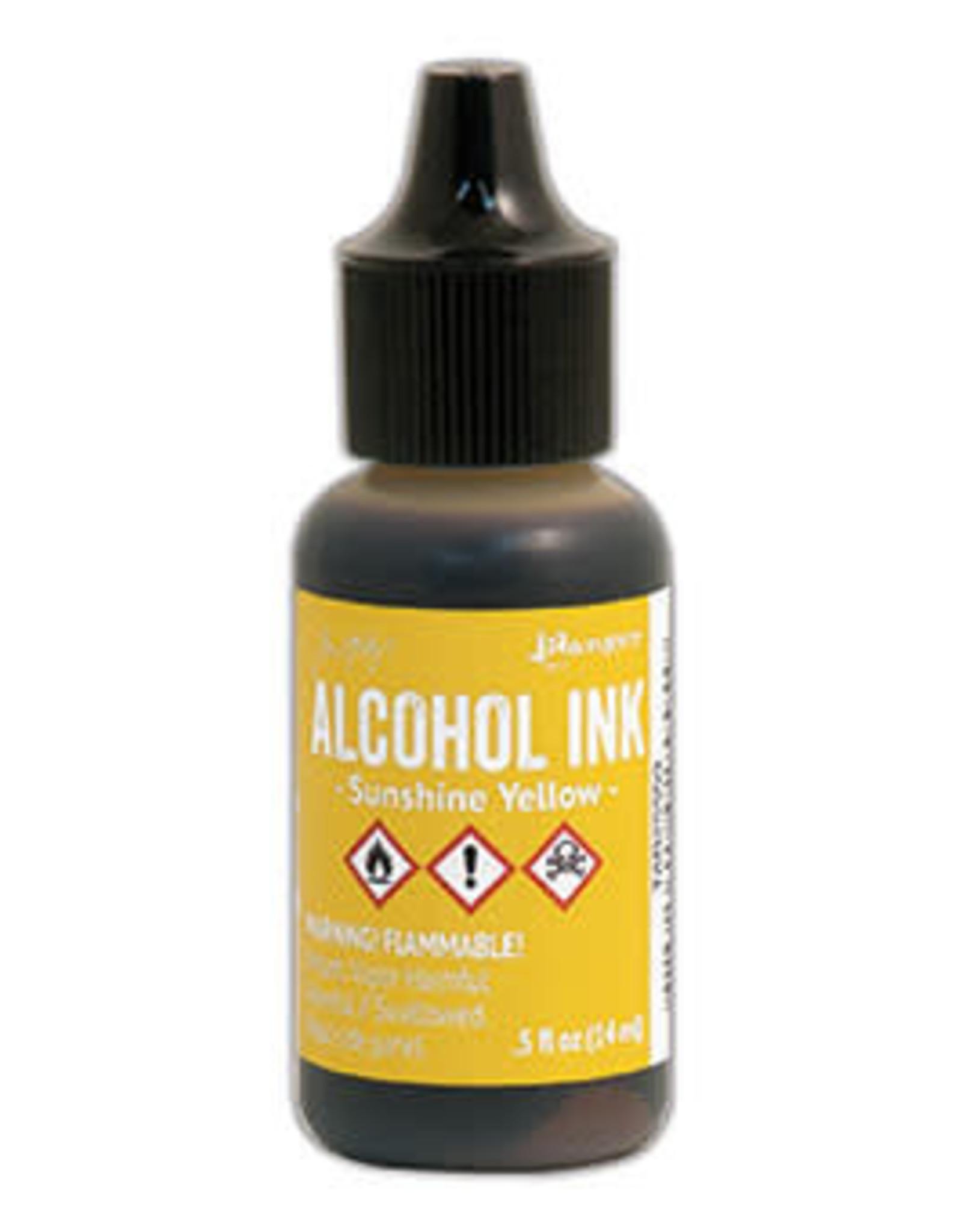 Tim Holtz Alcohol Ink 1/2 oz Sunshine Yellow